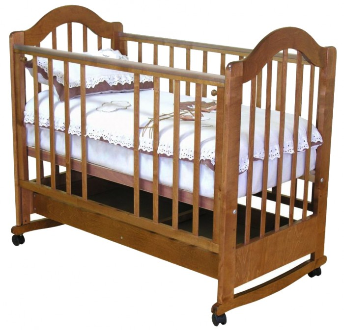 Детская кроватка Можга (Красная Звезда) Злата С-353 с ящиком (качалка)