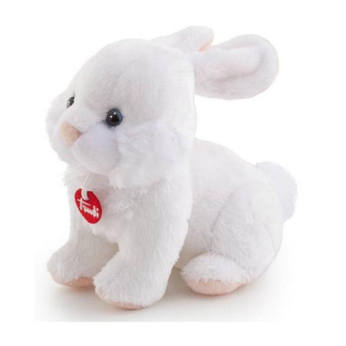 Мягкая игрушка Trudi Кролик 15 смКролик 15 смМягкая игрушка Trudi Кролик 15 см. Пушистый белый кролик с именным кулончиком на шее, на котором написано имя основательницы итальянского бренда Trudi, существующего уже более полувека, станет великолепным подарком для девушки или ребенка.   Он сделан из экологически чистых материалов, безопасен и приятен на ощупь.   Размер: 15 см<br>