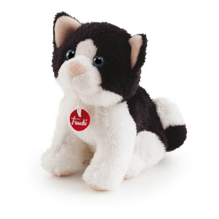 Мягкая игрушка Trudi Кот 15 смКот 15 смМягкая игрушка Trudi Кот 15 см. Черно-белый кот с необычной расцветкой, красивыми серыми глазками и красненьким кулончиком с фирменной вышивкой Trudi станет потрясающим подарком как для ребенка, так и для взрослого, ведь игрушки от Trudi сделаны с невероятной любовью и аккуратностью.  Trudi использует только экологически чистые материалы, поэтому игрушка совершенно безопасна для здоровья. Помимо всего прочего, ее можно стирать в машинке при температуре 30 градусов, она не потеряет свои лучшие свойства — мягкость и новизну.  Игрушка приятная на ощупь, с ней здорово засыпать в обнимку или можно усадить ее на диван, украсив комнату.   Размер: 15 см<br>