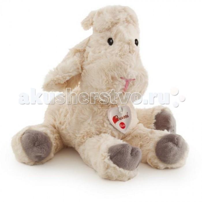 Мягкая игрушка Trudi Белая мягкая овечка 38 смБелая мягкая овечка 38 смМягкая игрушка Trudi Белая мягкая овечка 38 см. Итальянский бренд Tudi спешит порадовать Вас и представить Вашему вниманию прелестную белую овечку. Её шерстка мягкая и очень приятная на ощупь. Малышам понравится её тискать, гладить, они наверняка захотят взять её с собой в постель и сделать её участником своих игр.  Игрушки Trudi изготовлены из высококачественных, экологически чистых материалов. Они славятся своей долговечностью и не вызывают аллергии.   Пережить, что белоснежная овечка быстро испачкается и потеряет свой товарный вид нет причин. Игрушки Trudi легко отстирываются в стиральной машинке, не линяют и не теряют формы.   Размер овечки – 38 см<br>