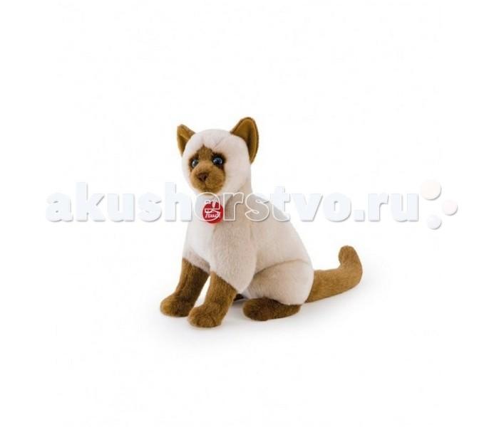 Мягкая игрушка Trudi Сиамская кошка Грета 31 смСиамская кошка Грета 31 смМягкая игрушка Trudi Сиамская кошка Грета 31 см. Плюшевая игрушка в виде сиамской кошки заменит вам домашнее животное. Ваш малыш будет с удовольствием играть с симпатичной кошечкой по кличке Грета. Ее шерстка такая мягкая, что ребенок не сможет расстаться с ней даже во время сна.   Игрушка поможет развить у вашего малютки мелкую моторику, зрение, визуальное восприятие, и тактильные навыки. Игрушка представляет собой сидячую сиамскую кошку. Сделана она из гипоаллергенных материалов. Размер игрушки — 31 см<br>