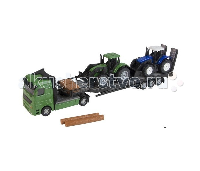 Roadsterz Перевозчик тракторовПеревозчик тракторовМасштабные модели сельскохозяйственной техники от британского бренда HTI поражают своим сходством с оригинальными автомобилями. Они приведут в восторг и мальчика от 3 лет, и опытного коллекционера.   Высокая степень детализации, большое количество подвижных частей делают игру с ними максимально приближенной к реальности, а, значит, интересной и познавательной для малыша.   В качестве моделей сомневаться не стоит. Компания HTI выпускает продукцию абсолютно безопасную и отвечающую строжайшим европейским стандартам.  Набор «Перевозчик трактора» покажет, каким образом сельскохозяйственная техника добирается до места своей работы. Кроме того, такой набор поможет развить ребенку логическое мышление, цветовое восприятие, координацию и мелкую моторику.<br>