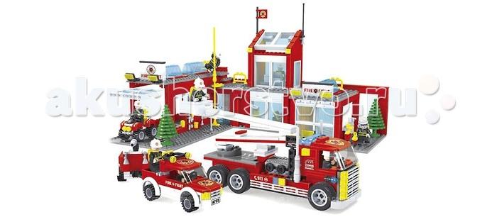 Конструктор Ausini Пожарные 915 деталей