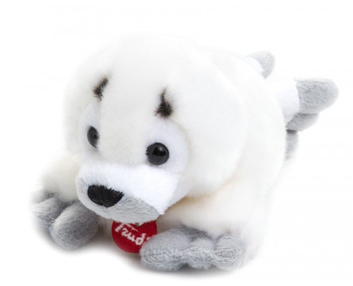 Мягкая игрушка Trudi Белый Тюлень 15 смБелый Тюлень 15 смМягкая игрушка Trudi Белый Тюлень 15 см. Белый тюлень от лидера по производству мягких игрушек компании Trudi станет хорошим другом для Вашего ребенка. Милая мордочка, ясные глазки и смешные лапки  не оставят никого равнодушным.  Игрушку можно стирать в стиральной машинке, она хорошо сохраняет цвет и форму. Она выполнена из высококачественного, гипоаллергенного  материала, не вызывающего раздражения на коже.  Белый тюлень продается в красной подарочной коробочке с красивой шелковой ленточкой.  Длина игрушки: 15 см<br>