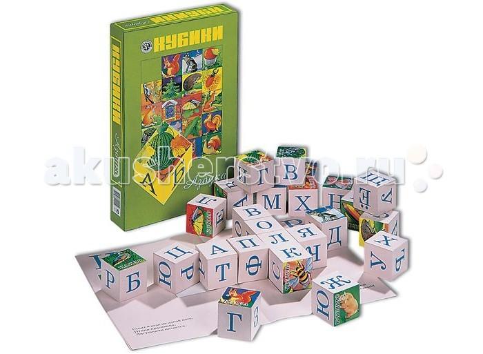 Деревянная игрушка Новое поколение Кубики Азбука НП68