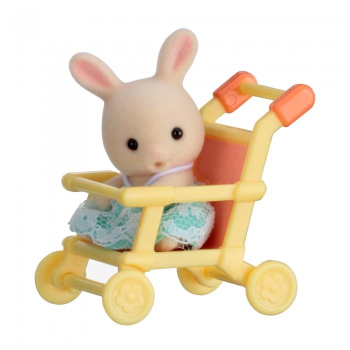 Sylvanian Families Набор Младенец в пластиковом сундучке. Кролик в коляске