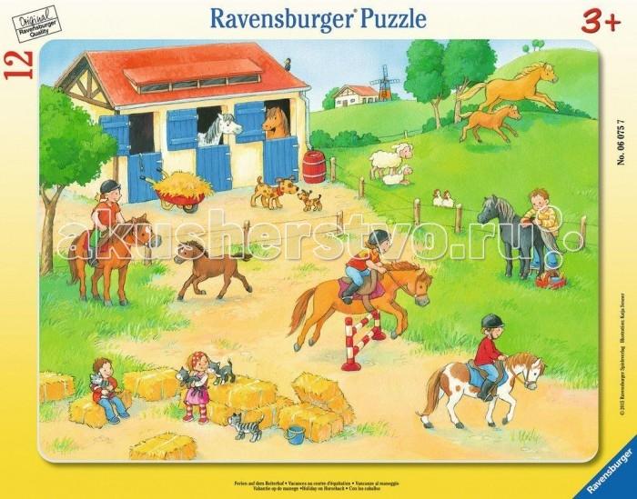 Ravensburger Пазл Выходные на конюшне 12 элементов