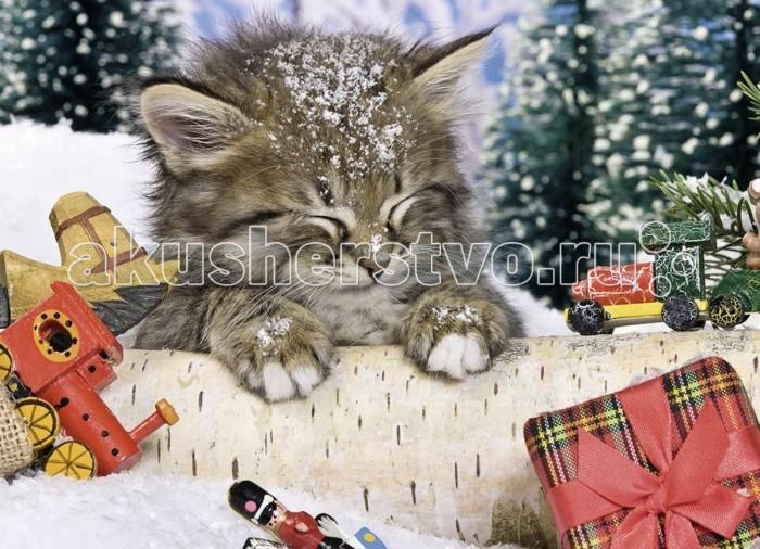 Ravensburger Пазл Котёнок в снегу 80 элементов