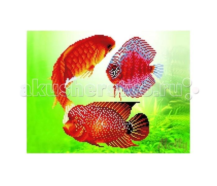 Molly Мозаичная картина Золотые рыбки 30х40 см