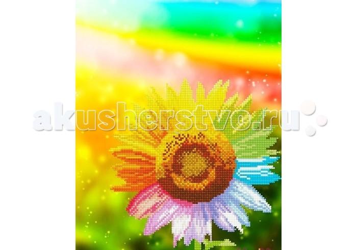 Molly Мозаичная картина Радужный подсолнух 30х40 см