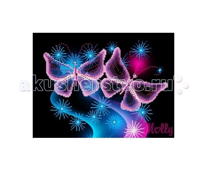 Molly Мозаичная картина Ночная вуаль 30х40 смМозаичная картина Ночная вуаль 30х40 смMolly Мозаичная картина Ночная вуаль 30х40 см - это оригинальный набор, позволяющий создать первую картину, благодаря поэтапной частичной выкладке. разноцветными круглыми элементами мозаики полотна.  Особенности: Вид творчества и увлекательное времяпровождение, которое позволяет без специальной подготовки любому желающему создать яркую, переливающуюся всеми цветами радуги картину. Не что иное, как эскиз будущего рисунка, контур, нанесенный на холст. Рисунок разбит на маркированные сегменты, обозначенные буквой или цифрой. Каждой цифре или букве соответствует определенный цвет мозаики. Благодаря качественной шлифовке мозаичных элементов любая готовая картина выглядит просто потрясающе.  Специальный пинцет в наборе и клеевая основа холста позволяет удобно, без использования дополнительных инструментов распределять мозаичные элементы на холсте. Картины мозаикой красиво сверкают при любом освещении. Готовая картина, помещенная в раму, - это отличный подарок и красивое интерьерное украшение.  В наборе: Тканевый холст с клеевым слоем и с нанесенной схемой рисунка; Металлический пинцет; Пластиковый контейнер для элементов мозаики; Специальный карандаш; Клей-липучка для карандаша; Комплект разноцветных мозаичных элементов диаметром 2,5 мм  Количество цветов: 20 Частичная выкладка Уровень сложности: трудный<br>