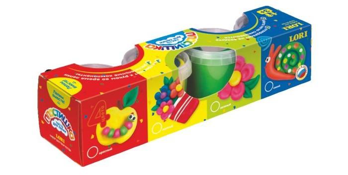 Lori Тесто для лепки Пластишка 4 цвета