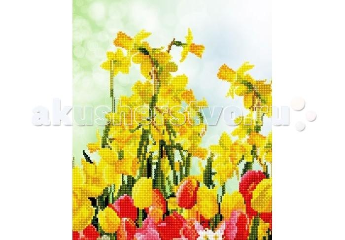 Molly Мозаичная картина Весенние цветы 30х40 см