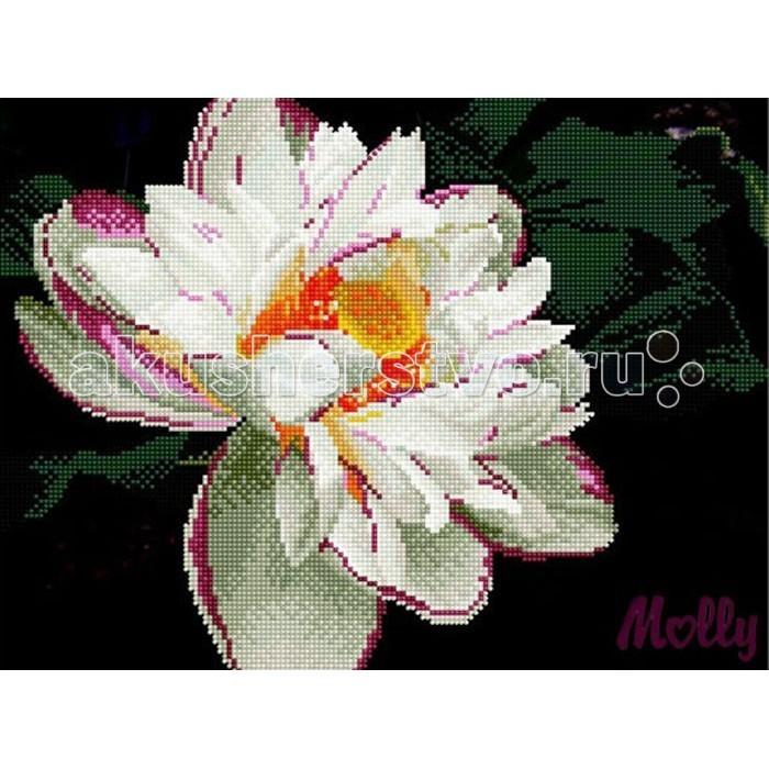 Molly Мозаичная картина Белый георгин 30х40 см