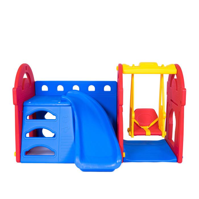 Haenim Toy Игровой центр Маленький замок с горкой + качели