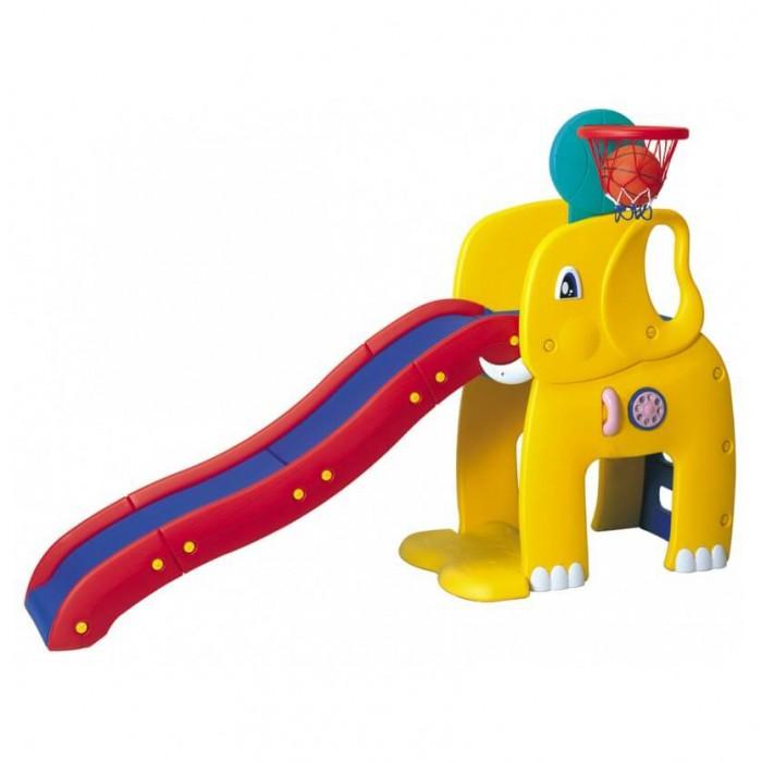 Горка Haenim Toy Слон с баскетбольным кольцом