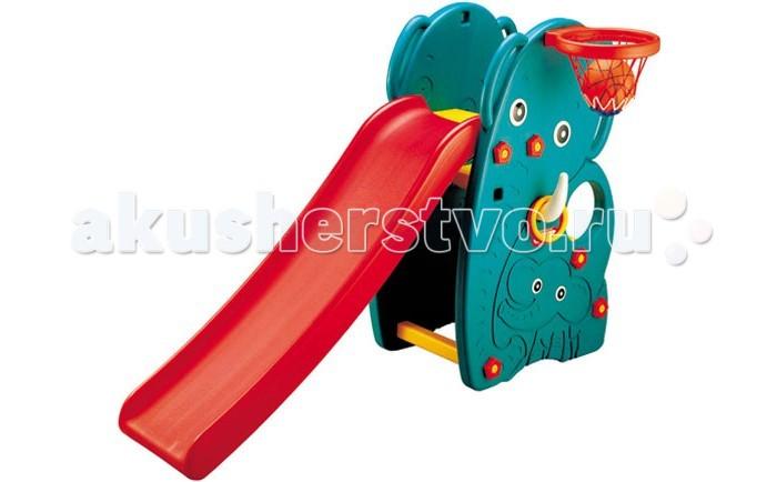 Горки Happy Box Слон с баскетбольным кольцом