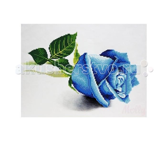 Molly Мозаичная картина Голубая роза 30х40 смМозаичная картина Голубая роза 30х40 смMolly Мозаичная картина Голубая роза 30х40 см - это оригинальный набор, позволяющий создать первую картину, благодаря поэтапной частичной выкладке. разноцветными круглыми элементами мозаики полотна.  Особенности: Вид творчества и увлекательное времяпровождение, которое позволяет без специальной подготовки любому желающему создать яркую, переливающуюся всеми цветами радуги картину. Не что иное, как эскиз будущего рисунка, контур, нанесенный на холст. Рисунок разбит на маркированные сегменты, обозначенные буквой или цифрой. Каждой цифре или букве соответствует определенный цвет мозаики. Благодаря качественной шлифовке мозаичных элементов любая готовая картина выглядит просто потрясающе.  Специальный пинцет в наборе и клеевая основа холста позволяет удобно, без использования дополнительных инструментов распределять мозаичные элементы на холсте. Картины мозаикой красиво сверкают при любом освещении. Готовая картина, помещенная в раму, - это отличный подарок и красивое интерьерное украшение.  В наборе: Тканевый холст с клеевым слоем и с нанесенной схемой рисунка; Металлический пинцет; Пластиковый контейнер для элементов мозаики; Специальный карандаш; Клей-липучка для карандаша; Комплект разноцветных мозаичных элементов диаметром 2,5 мм  Количество цветов: 19 Частичная выкладка Уровень сложности: средний<br>
