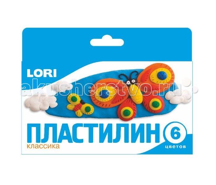 Lori Пластилин классика 6 цветовПластилин классика 6 цветовLori Пластилин классика 6 цветов подойдет для занятий лепкой дома или в детском саду.   Пластилин приятен в использовании, так как не липнет к рукам и не оставляет жирных следов. В набор входит 6 брусочков пластилина разных цветов, что позволит создать любую фигурку на свой вкус.  Занятие лепкой развивает не только воображение и фантазию ребенка, но и мелкую моторику рук.<br>