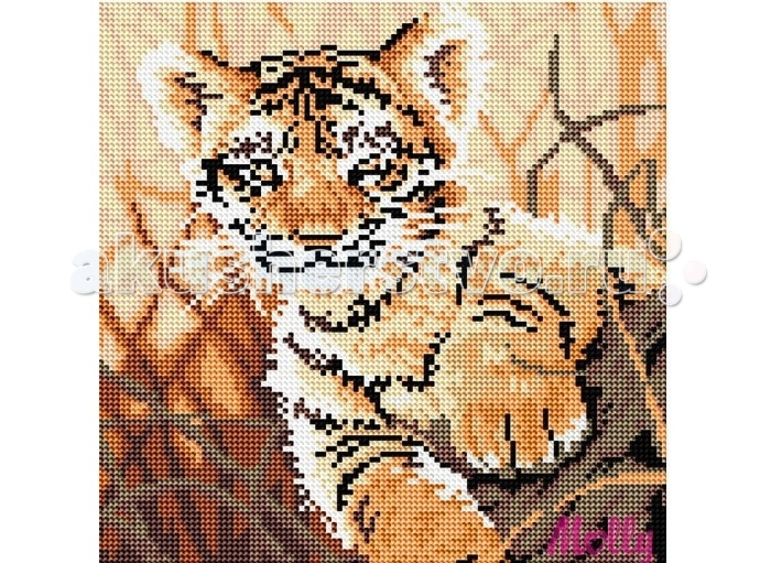 Molly Картины со стразами 2.8 мм Любопытный тигренокКартины со стразами 2.8 мм Любопытный тигренокMolly Картины со стразами 2.8 мм Любопытный тигренок - это оригинальный набор, позволяющий создать первую картину, благодаря поэтапной выкладке разноцветными стразами полотна.   Картины со стразами - это новое направление в товарах для творчества. Мы предлагаем с помощью набора создать настоящую искрящуюся картину. Это очень увлекательное занятие, постепенно под вашими руками будет появляться сверкающий рисунок, а готовое произведение станет достойным украшением дома.  В наборе: холст из натурального хлопка с клеевым слоем разноцветные стразы диаметром 2,8 мм пинцет емкость для фольгированных элементов клей карандаш-липучка крепеж для подвешивания картины.  Количество цветов: 13 Уровень сложности: трудный размер полотна 30х30<br>
