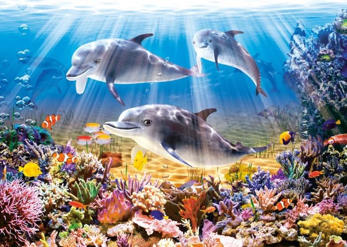 Castorland Пазл Дельфины 500 элементовПазл Дельфины 500 элементовПазл Дельфины- станет приятным подарком детям и даже взрослым обожающим этих необыкновенных и добрых млекопитающих.   Пазл Дельфины состоит из 500 элементов. Пазл подойдет не только детям школьного возраста, но и взрослым.  Складывание пазлов довольно полезное занятие для всех возрастов. Оно помогает развивать логическое мышление, внимание и воображение.  Размер собранного поля: 47 х 33 см<br>