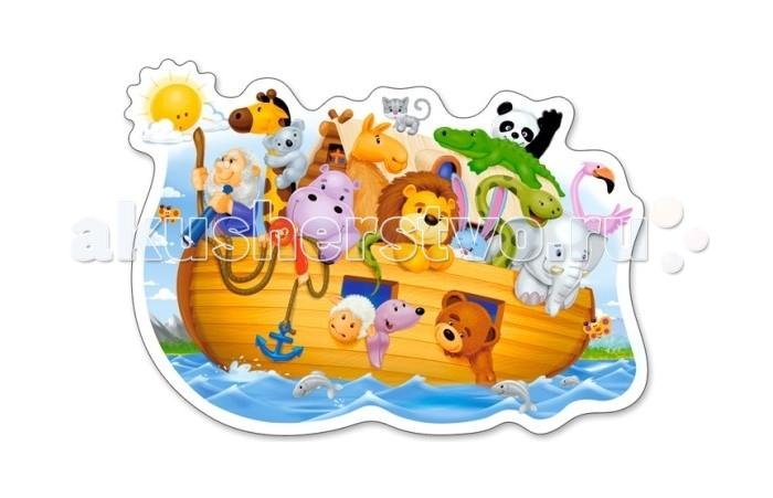 Castorland Пазлы MIDI Ноев ковчег 15 элементовПазлы MIDI Ноев ковчег 15 элементовПазлы MIDI Ноев ковчег состоит из 15 крупных элементов и подойдет детям с 3 лет.  Складывание пазлов довольно полезное занятие для всех возрастов. Оно помогает развивать логическое мышление, внимание, воображение и, конечно же, моторику рук, что очень важно для детей дошкольного возраста.  Размер собранного поля: 32 х 16.5 см<br>