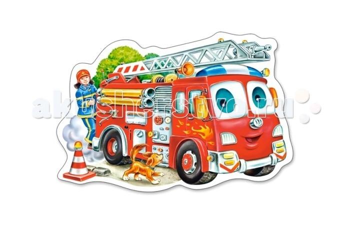 Castorland Пазл MIDI Пожарная машина 15 элементовПазл MIDI Пожарная машина 15 элементовПазл MIDI Пожарная машина состоит из 15 крупных элементов и подойдет детям с 3 лет.  Складывание пазлов довольно полезное занятие для всех возрастов. Оно помогает развивать логическое мышление, внимание, воображение и, конечно же, моторику рук, что очень важно для детей дошкольного возраста.  Размер собранного поля: 32 х 16.5 см<br>