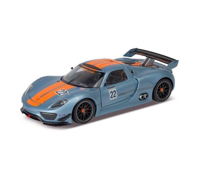 Welly Модель машины 1:24 Porsche 918 RsrМодель машины 1:24 Porsche 918 RsrPorsche 918 RSR – это гоночная версия гибридного суперкара Порше 918 «Спайдер», выпущенного в 2010 году немецкого автопроизводителя Porsche. Мощность этого потрясающего авто – 560 л.с.! Броский агрессивный дизайн в сочетании с неукротимой мощью двигателя делает этот гоночный автомобиль лидером среди других авто такого типа. Быстрый, эффективный и экологичный двухдверный суперкар – мечта любого гонщика!  Модель автомобиля выполнена в масштабе 1:24. Этот замечательный экземпляр гоночной машинки станет прекрасным украшением коллекции спортивных авто.<br>