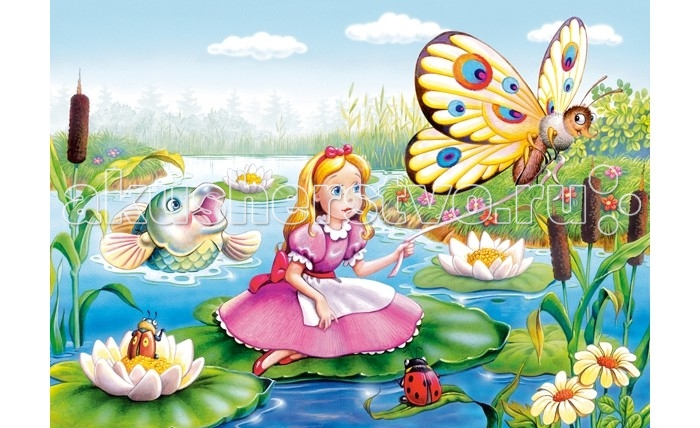 Castorland Пазл МИДИ Дюймовочка 120 элементовПазл МИДИ Дюймовочка 120 элементовПазл МИДИ Дюймовочка состоит из 120 элементов. Картинка очень яркая и красочная, поэтому обязательно понравится малышам. Особенно рады такому подарку будут маленькие принцессы.  Складывание пазлов довольно полезное занятие для всех возрастов. Оно помогает развивать логическое мышление, внимание, воображение и, конечно же, моторику рук, что очень важно для детей дошкольного возраста.  Размер собранного поля: 32 х 23 см<br>