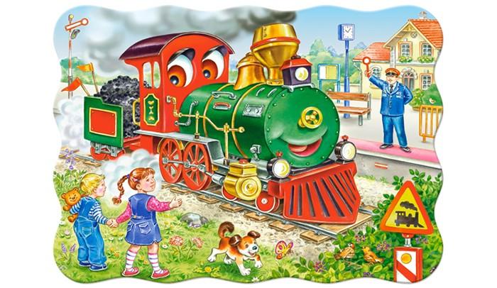 Castorland Пазл MIDI Зеленый локомотив 30 элементовПазл MIDI Зеленый локомотив 30 элементовПазл MIDI Зеленый локомотив состоит из 30 крупных элементов. Картинка очень яркая и красочная, поэтому обязательно понравится малышам.  Складывание пазлов довольно полезное занятие для всех возрастов. Оно помогает развивать логическое мышление, внимание, воображение и, конечно же, моторику рук, что очень важно для детей дошкольного возраста.  Размер собранного поля: 32 х 23 см<br>