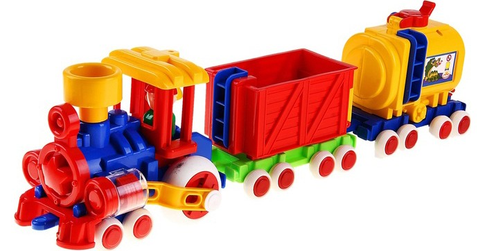 Форма Паровозик Ромашка с 2 вагонами Детский садПаровозик Ромашка с 2 вагонами Детский садФорма Паровозик Ромашка с 2 вагонами Детский сад выполнен из высококачественной и безопасной гипоаллергенной пластмассы.   Вагончики отцепляются, а фигурку машиниста можно легко вытащить из кабины, в кузов ваш малыш сможет положить свои маленькие игрушечки.   Паровозик привлечет внимание вашего юного машиниста своим ярким дизайном.<br>