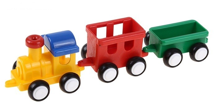 Форма Паровозик Детский садПаровозик Детский садФорма Паровозик Детский сад оснащен тяжелыми колесами из ПВХ. Он катается по инерционному принципу.   В состав входит локомотив, один вагончик и один прицеп.   Игрушка совершенно безопасна для малышей, этому способствует и особый дизайн с обтекаемыми формами.<br>