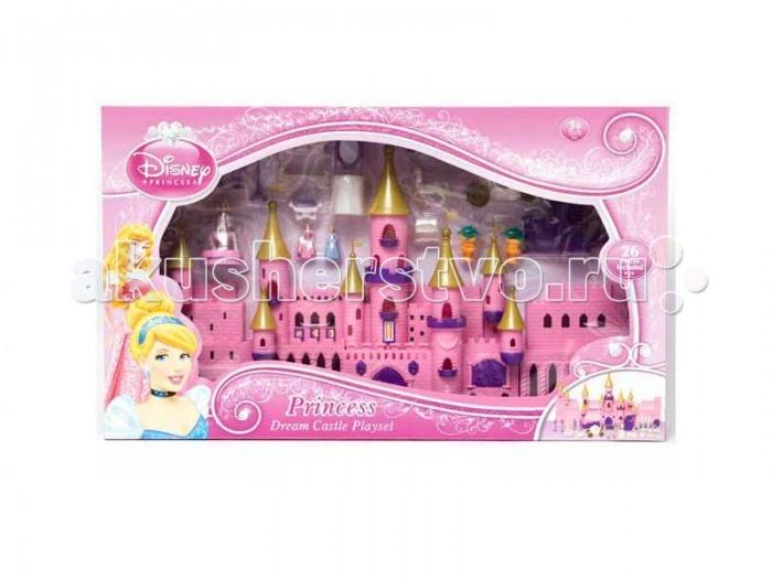 Boley Игровой набор Волшебный замок ПринцессаИгровой набор Волшебный замок ПринцессаBoley Игровой набор Волшебный замок Принцесса выглядит очень реалистично и напоминает сказочные сооружения из мультфильмов, в которых живут мультипликационные красавицы.  Особенности: Замок выполнен в привычной для принцесс гамме, где нежный розовый цвет прекрасно сочетается с фиолетовым царственным оттенком.  Крепостные стены сооружения украшены фактурным рисунком в виде кирпичиков и резными краями.  Для обустройства внутреннего двора крепости к набору прилагаются очаровательные миниатюрные аксессуары в виде трехъярусного фонтана, изящных канделябров и чудесных растений.  Для отдыха в саду принцессы могут выбрать одну из нескольких лавочек с ажурными спинками. Помимо прочего в комплект входит очаровательная карета-тыква, запряженная красивым белым конем, на ней Золушка и Спящая Красавица смогут незамедлительно отправиться на королевский бал, полюбовавшись на свое чудесное платье перед зеркалом и отдохнув перед поездкой на удобной софе.  В комплекте: замок,  лошадь,  карета,  2 фигурки принцесс,  фонтан,  растения для сада,  лавочки,  софа,  канделябры,  зеркало,  гербы на подставках,  аксессуары.<br>