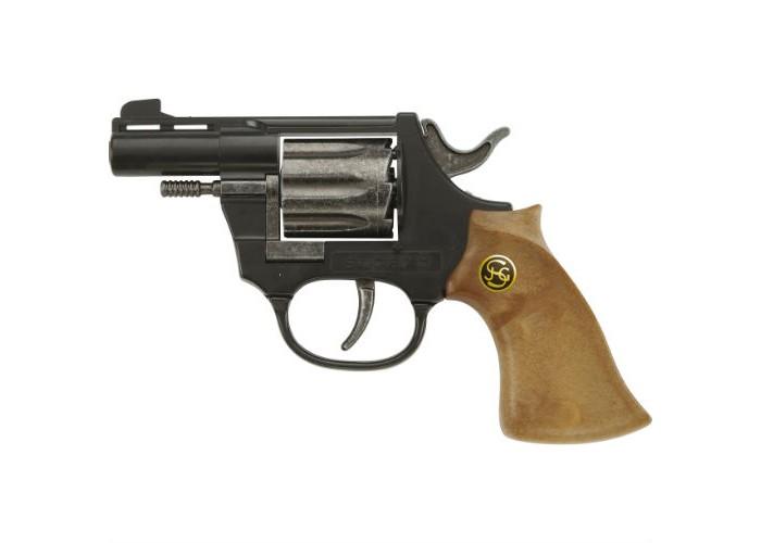 Schrodel Игрушечное оружие Пистолет Super 8Игрушечное оружие Пистолет Super 8Игрушечное оружие Schrodel Пистолет Super 8 подарит вашему малышу массу положительных и ярких эмоций.   Пистолет позволит ребенку почувствовать себя настоящим шерифом или метким стрелком с Запада.  Размер: 14,5 см Ёмкость магазина: 8 пистонов  Игрушечное оружие от немецкой компании Schrodel — лучшие игрушки для военных и схожих социально-ролевых играх для мальчишек. Сделайте игру в «войнушку» полезной для ребенка, расскажите ему о настоящих героях, о том, как важно защищать слабых и творить добро. Помогите ребенку понять важные ценности и жизненные принципы в активной игре про борьбу с преступностью.  Schrodel — один из лучших немецких производителей игрушечного детского оружия отличного качества. Все игрушки компании выполнены из нетоксичных и качественных материалов, безопасных для здоровья ребенка.  Обязательно ознакомьтесь с инструкцией и соблюдайте меры безопасности.<br>