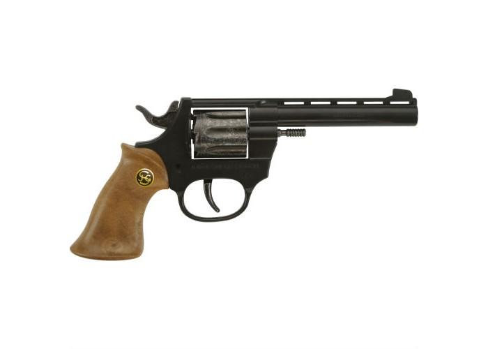 Schrodel Игрушечное оружие Пистолет Super 88Игрушечное оружие Пистолет Super 88Игрушечное оружие Schrodel Пистолет Super 88 подарит вашему малышу массу положительных и ярких эмоций.   Пистолет позволит ребенку почувствовать себя настоящим шерифом или метким стрелком с Запада.  Размер: 20 см Ёмкость магазина: 8 пистонов  Игрушечное оружие от немецкой компании Schrodel — лучшие игрушки для военных и схожих социально-ролевых играх для мальчишек. Сделайте игру в «войнушку» полезной для ребенка, расскажите ему о настоящих героях, о том, как важно защищать слабых и творить добро. Помогите ребенку понять важные ценности и жизненные принципы в активной игре про борьбу с преступностью.  Schrodel — один из лучших немецких производителей игрушечного детского оружия отличного качества. Все игрушки компании выполнены из нетоксичных и качественных материалов, безопасных для здоровья ребенка.  Обязательно ознакомьтесь с инструкцией и соблюдайте меры безопасности.<br>