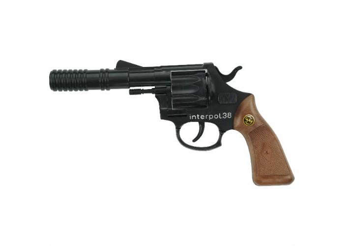 Schrodel Игрушечное оружие Пистолет Interpol38Игрушечное оружие Пистолет Interpol38Игрушечное оружие Schrodel Пистолет Interpol38 — отличный подарок для маленьких любителей приключений, вестернов и борьбы со злом.  Стильный 12-зарядный кольт — отличное детское игрушечное оружие для увлекательных «войнушек» и активных детективных игр. Помогите вашему ребенку расследовать преступления и защищать добро.   Размер: 23 см Ёмкость магазина: 12 пистонов  Игрушечное оружие от немецкой компании Schrodel — лучшие игрушки для военных и схожих социально-ролевых играх для мальчишек. Сделайте игру в «войнушку» полезной для ребенка, расскажите ему о настоящих героях, о том, как важно защищать слабых и творить добро. Помогите ребенку понять важные ценности и жизненные принципы в активной игре про борьбу с преступностью.  Schrodel — один из лучших немецких производителей игрушечного детского оружия отличного качества. Все игрушки компании выполнены из нетоксичных и качественных материалов, безопасных для здоровья ребенка.  Обязательно ознакомьтесь с инструкцией и соблюдайте меры безопасности.<br>