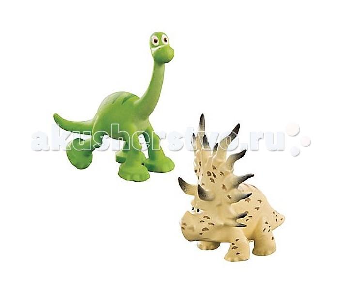 Good Dinosaur Фигурки Арло и АконтофиопсФигурки Арло и АконтофиопсGood Dinosaur Фигурки Арло и Аконтофиопс динозавр Арло, главный герой мультфильма Хороший Динозавр, и загадочный стиракозавр Аконтофиопс.  Особенности: У Арло беспечная добродушная мордочка, такая же, как в мультике, а Аконтофиопс выглядит очень строгим и серьезным.  Фигурки выполнены с высокой степенью детализации, в точности похожи на свои анимационные прототипы.  Набор можно совместить с другими комплектами мини-фигурок, чтобы расширить диапазон сюжетных сцен с участием ключевых героев.<br>
