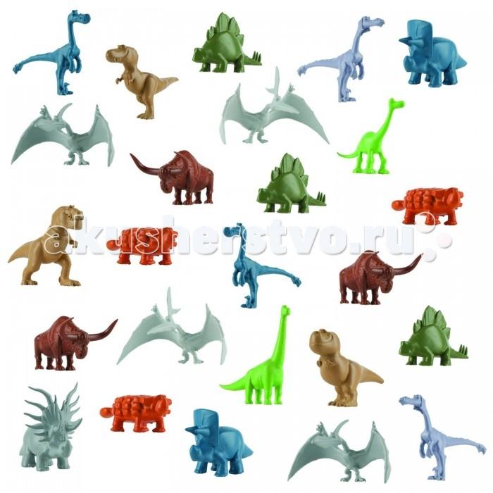 Good Dinosaur Набор фигурок Герои мультфильмаНабор фигурок Герои мультфильмаGood Dinosaur Набор фигурок Герои мультфильма включает в себя 25 фигурок, среди которых присутствуют все ключевые персонажи одноименного мультфильма.  Особенности: В комплекте есть тираннозавры, рапторы, птерозавры, трицератопсы, анкилозавры, апатозавры и даже длиннорогие быки.  С набором маленьких динозавриков ребенок сможет фантазировать, творить и придумывать истории.  Рисуйте и вырезайте бумажные деревья - получится доисторический лес.  Лепите из пластилина горные массивы, населенные разнообразными ящерами. Разыграйте сцены из фильма, создайте свой собственный Мир Динозавров!<br>