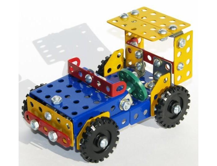 Конструктор Самоделкин металлический К1 цветной Техник 20 моделейметаллический К1 цветной Техник 20 моделейКонструктор Самоделкин металлический К1 цветной Техник 20 моделей - настоящая классика среди игрушек подобного рода. Такие конструкторы собирали еще дети прошлого века, после чего из них вырастали талантливые инженеры.  Набор включает в себя металлические пластинки разных форм и размеров с отверстиями. Отверстия нужны, чтобы соединять пластинки между собой. Делается это с помощью болтов, гаек, и гаечных ключей, конечно. Кроме того, имеются колеса – для сборки мотоцикла. Детали уложены в пластиковую коробку с тремя отделениями и прозрачной крышкой.   Игрушка способствует развитию воображения, пространственных представлений, мелкой моторики пальцев и координации движений обеих рук.<br>