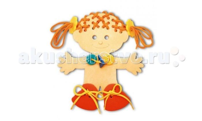 Развивающая игрушка Флексика Шнуровка ДевочкаШнуровка ДевочкаФлексика Шнуровка Девочка направлена на развитие у ребёнка памяти, воображения, фантазии, моторики, пространственного и логического мышления.   Развивающие игры Флексика сделаны из отечественного полимерного материала, легкого, современного и самое главное – безопасного для детей.   Особые свойства материала позволяют экспериментировать с водой и превратить купание в интересный и увлекательный процесс: достаточно, например, пазлам и наборам для ванной намокнуть, как они прилипают к любым гладким поверхностям.  Особенности: Обучение происходит в процессе игры.  Благодаря особой структуре материала и свойству прилипать к мокрой поверхности, является идеальной игрушкой для ванны.  Материал: пенополиэтилен.  Содержит мелкие детали.<br>