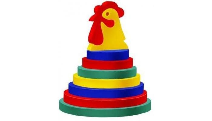Развивающая игрушка Флексика Пирамида ПетушокПирамида ПетушокФлексика Пирамида Петушок направлена на развитие у ребёнка памяти, воображения, фантазии, моторики, пространственного и логического мышления.   Развивающие игры Флексика сделаны из отечественного полимерного материала, легкого, современного и самое главное – безопасного для детей.   Особые свойства материала позволяют экспериментировать с водой и превратить купание в интересный и увлекательный процесс: достаточно, например, пазлам и наборам для ванной намокнуть, как они прилипают к любым гладким поверхностям.  Особенности: Эту пирамидку можно собрать, предварительно выдавив мягкие детали из рамки. Цель игры: научить ребёнка сравнивать предметы по форме, цвету и размеру. Игра развивает мелкую моторику, координацию движений и глазомер. Материал: пенополиэтилен.<br>