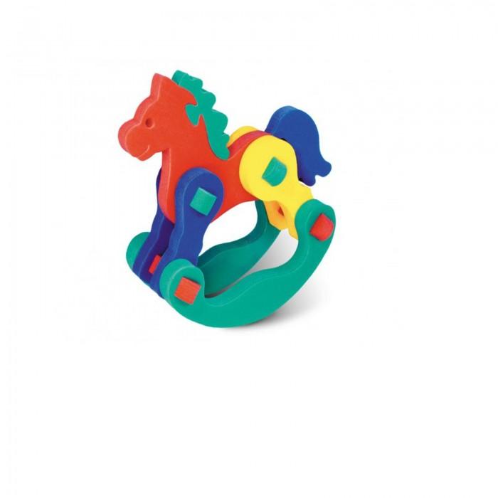 Конструктор Флексика Лошадка качалкаЛошадка качалкаКонструктор Флексика Лошадка качалка мягкий обязательно понравится вашему малышу и займет его внимание надолго.  Задача ребенка - собрать объемную фигурку из мягких деталей конструктора.   Развивающие игры Флексика сделаны из отечественного полимерного материала, легкого, современного и самое главное – безопасного для детей.   Особые свойства материала позволяют экспериментировать с водой и превратить купание в интересный и увлекательный процесс: достаточно, например, пазлам и наборам для ванной намокнуть, как они прилипают к любым гладким поверхностям.  Особенности: Игра развивает моторику, усидчивость, логическое мышление. Материал: пенополиэтилен.<br>