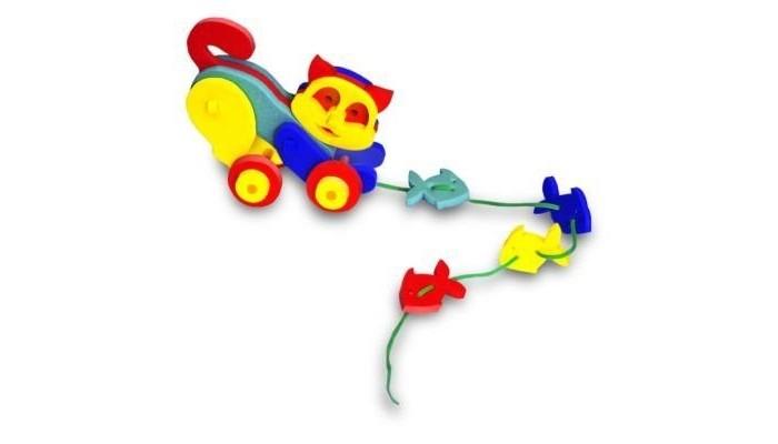 Каталка-игрушка Флексика КошечкаКошечкаКаталка-игрушка Флексика Кошечкас обязательно понравится вашему малышу и займет его внимание надолго.  Развивающие игры Флексика сделаны из отечественного полимерного материала, легкого, современного и самое главное – безопасного для детей.   Особые свойства материала позволяют экспериментировать с водой и превратить купание в интересный и увлекательный процесс: достаточно, например, пазлам и наборам для ванной намокнуть, как они прилипают к любым гладким поверхностям.<br>