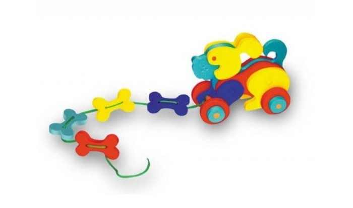 Каталка-игрушка Флексика СобачкаСобачкаКаталка-игрушка Флексика Собачка обязательно понравится вашему малышу и займет его внимание надолго.  Развивающие игры Флексика сделаны из отечественного полимерного материала, легкого, современного и самое главное – безопасного для детей.   Особые свойства материала позволяют экспериментировать с водой и превратить купание в интересный и увлекательный процесс: достаточно, например, пазлам и наборам для ванной намокнуть, как они прилипают к любым гладким поверхностям.<br>