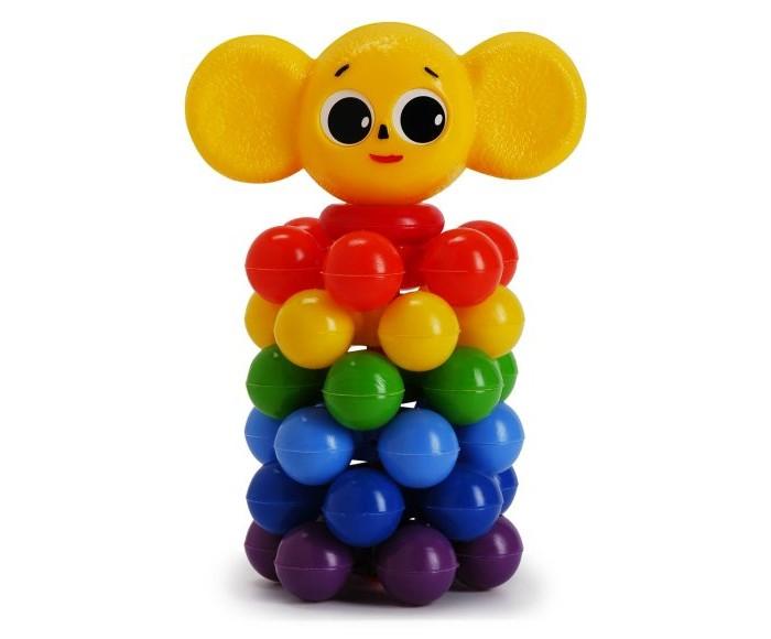 Развивающая игрушка Росигрушка Пирамида Ушастик с шариками 19 смПирамида Ушастик с шариками 19 смРазвивающая игрушка Росигрушка Пирамида Ушастик с шариками 19 см состоит из 6 колец, является великолепным тренажером для развития мелкой моторики и координации движений обеих рук.  В процессе игры ребенок знакомится с разными цветами и размерами предметов, учится соотносить и сравнивать предметы по этим признакам.  С помощью пирамидки можно освоить устный порядковый счет.   Пирамида состоит из необычных колец с шариками, такая конструкция безопасна для малыша и помогает развить тактильные ощущения.<br>