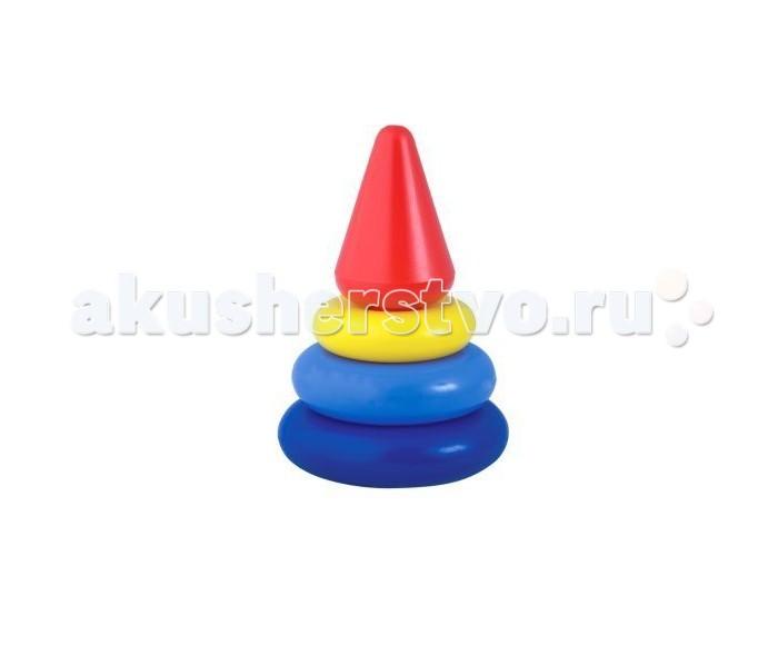 Развивающая игрушка Росигрушка Пирамида Кнопа 14 смПирамида Кнопа 14 смРазвивающая игрушка Росигрушка Пирамида Кнопа 14 см состоит из 5 деталей, является великолепным тренажером для развития мелкой моторики и координации движений обеих рук.  В процессе игры ребенок знакомится с разными цветами и размерами предметов, учится соотносить и сравнивать предметы по этим признакам.  С помощью пирамидки можно освоить устный порядковый счет.<br>