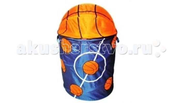 Shantou Gepai Корзина Баскетбол 45х50 смКорзина Баскетбол 45х50 смРебёнок станет с удовольствием убирать свои игрушки в эту яркую корзину!  Теперь все игрушки можно спрятать с одно место!  Корзина яркая, легкая, выполнена из прочной ткани и легко стирается. А крышка надежно защитит игрушки от пыли. При необходимости корзину легко сложить.  Имеет каркас на гибкой пружине.  Малыш с удовольствием приспособит ее для игр и пряток.  Выполнена из экологически чистых материалов.<br>