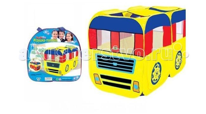 Shantou Gepai Палатка игровая Автобус 148х75х96 смПалатка игровая Автобус 148х75х96 смЕсли у вас есть маленькие дети, то игровая палатка Автобус незаменима для выездов на природу или поездок на дачу.   Палатка легко раскладывается, устанавливается и складывается, удобна в транспортировке.  Размер палатки с собранном виде - 148х75х96 см.   В комплекте сумка для транспортировки.<br>