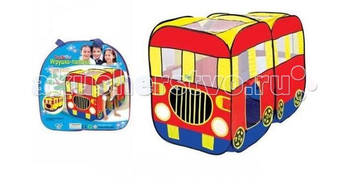 Shantou Gepai Палатка игровая Автобус 148х75х98 смПалатка игровая Автобус 148х75х98 смЕсли у вас есть маленькие дети, то игровая палатка Автобус незаменима для выездов на природу или поездок на дачу.   Палатка легко раскладывается, устанавливается и складывается, удобна в транспортировке.  Размер палатки с собранном виде - 148х75х98 см.   В комплекте сумка для транспортировки.<br>