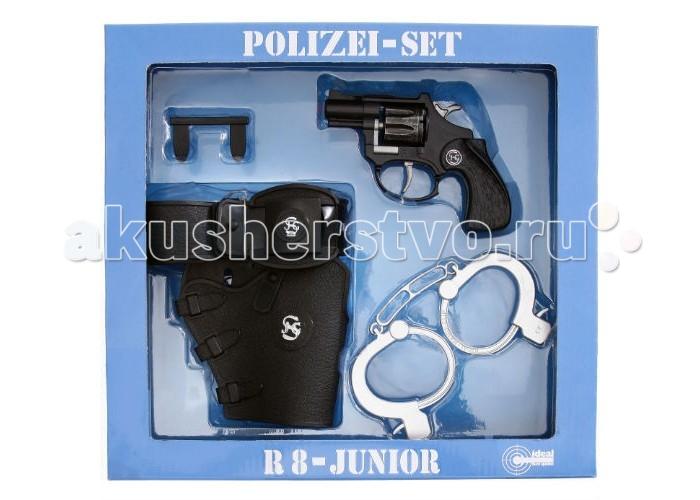 Schrodel Набор Полиция с игрушечным пистолетом R8 8-Schu&amp;#223;Набор Полиция с игрушечным пистолетом R8 8-Schu&amp;#223;Набор Schrodel Полиция с игрушечным пистолетом R8 8-Schu&#223; — отличный выбор для маленьких любителей приключений, вестернов и борьбы со злом  Этот впечатляющий набор придется по душе маленьким защитникам порядка. В набор от Schrodel входят: полицейский револьвер, кобура для пистолета и наручники. Пистоны приобретаются отдельно. Набор «Полиция с пистолетом» поможет мальчикам в активных ролевых играх. Такие игры развивают мышление, логику и важные жизненные ценности и принципы: добро, справедливость, честность.  Ёмкость магазина: 8 пистонов  Schrodel — один из лучших немецких производителей игрушечного детского оружия отличного качества. Все игрушки компании выполнены из нетоксичных и качественных материалов, безопасных для здоровья ребенка.  Обязательно ознакомьтесь с инструкцией и соблюдайте меры безопасности.<br>